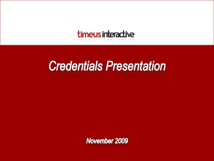 Timeus Interactive Credentials