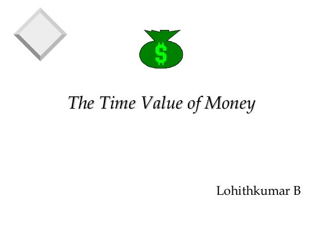 The Time Value of MoneyThe Time Value of Money Lohithkumar B