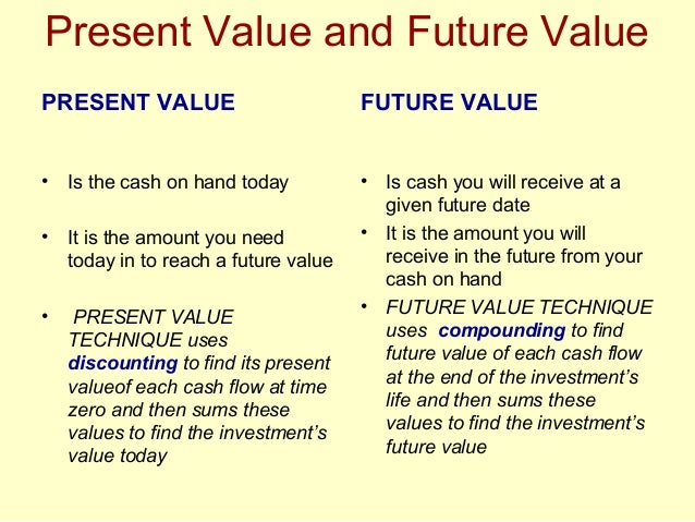 future value and present value Understanding present value and how to calculate it can be quite useful when it comes to retirement planning here's what it is and how to use it.