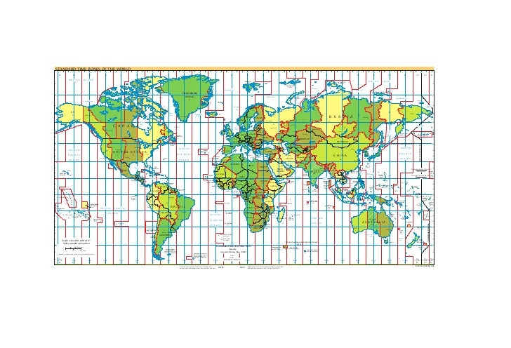 STANDARD TIME ZONES OF THE WORLD 165                           150                       135                          120 ...