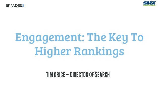 SMX London: Engagement, the key to higher rankings - Tim Grice