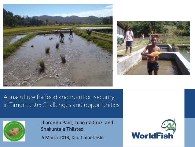 Aquaculture for food and nutrition security in Timor-Leste: Challenges and opportunities