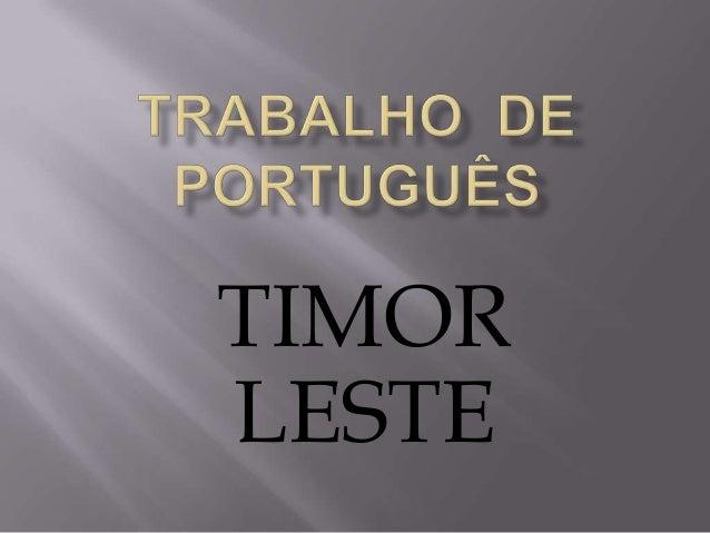 Timor leste 1d