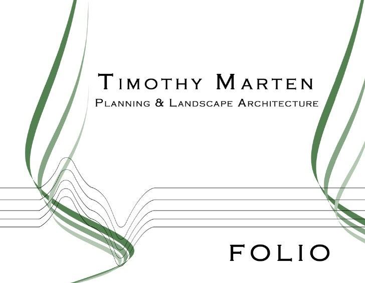 Timothy Marten 09 Portfolio