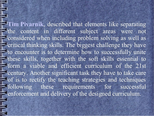 The importance of critical thinking and problem solving