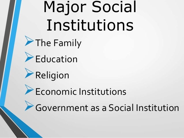 three societal institutes specifically family government Start studying byu gov review #3 -the implied powers of the federal government are those specifically which of the following can a state refuse to a family.