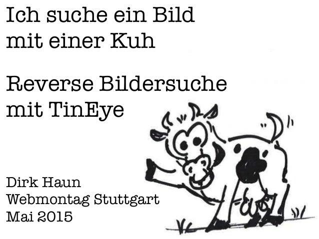 Ich suche ein Bild mit einer Kuh Reverse Bildersuche mit TinEye Dirk Haun Webmontag Stuttgart Mai 2015
