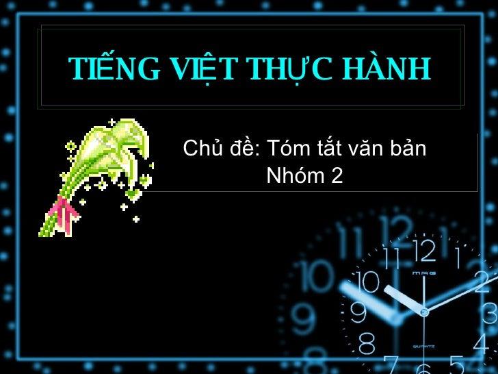 Tiếng Việt thực hành <Nhóm 2>