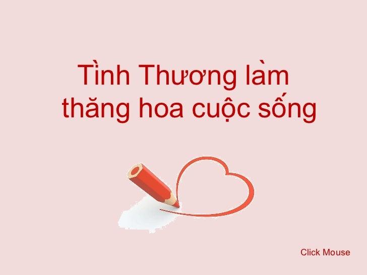 Tinh thuong lam thang hoa cuoc song