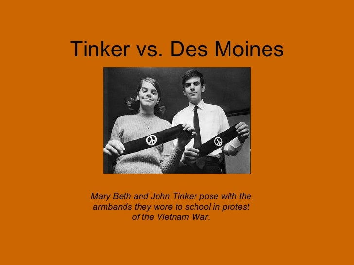 tlo vs new jersey and tinker vs des moines school disctrict rights of students brought into question The 1969 landmark case of tinker v des moines affirmed the first amendment rights of students in school the court held that a school district violated students' free speech rights when it singled out a form of symbolic speech - black armbands worn in protest of the vietnam war - for prohibition.
