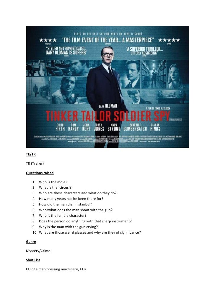 Tinker tailor soldier spy trailer analysis