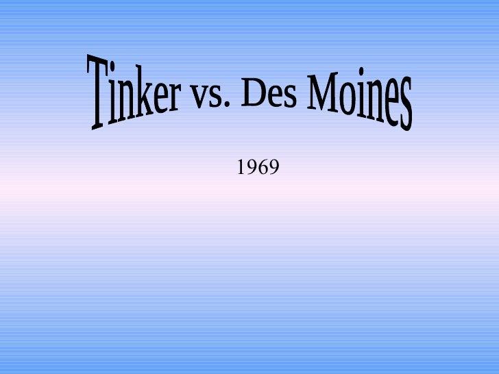 1969 Tinker vs. Des Moines