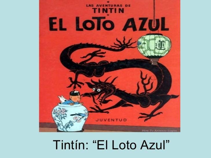 """CarlosVillajos Tintin y """"El loto azul"""""""