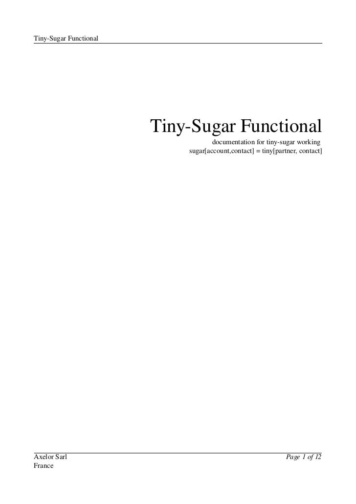 Tiny­Sugar Functional                        Tiny­Sugar Functional                                    documentation for ti...