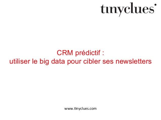 CRM prédictif : utiliser le big data pour cibler ses newsletters  www.#nyclues.com