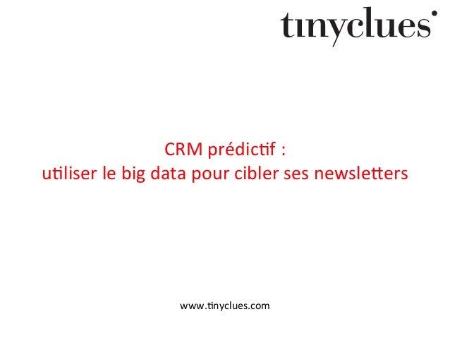 CRM  prédic+f  :     u+liser  le  big  data  pour  cibler  ses  newsle9ers   www.+nyclues.com