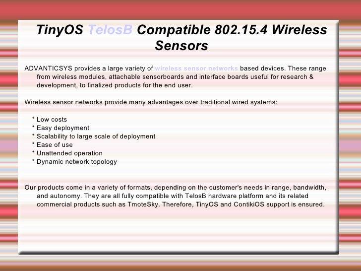 Tiny os telosb compatible 802.15.4 wireless sensors