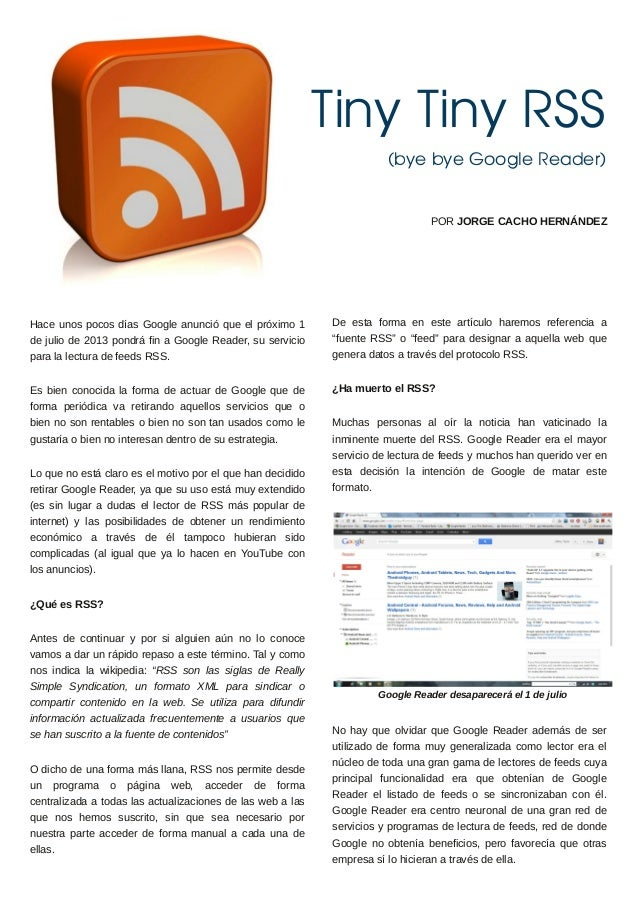 Tiny Tiny RSS                                                                       (bye bye Google Reader)               ...