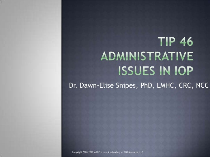 Dr. Dawn-Elise Snipes, PhD, LMHC, CRC, NCC     Copyright 2008-2012 AllCEUs.com A subsidiary of CDS Ventures, LLC