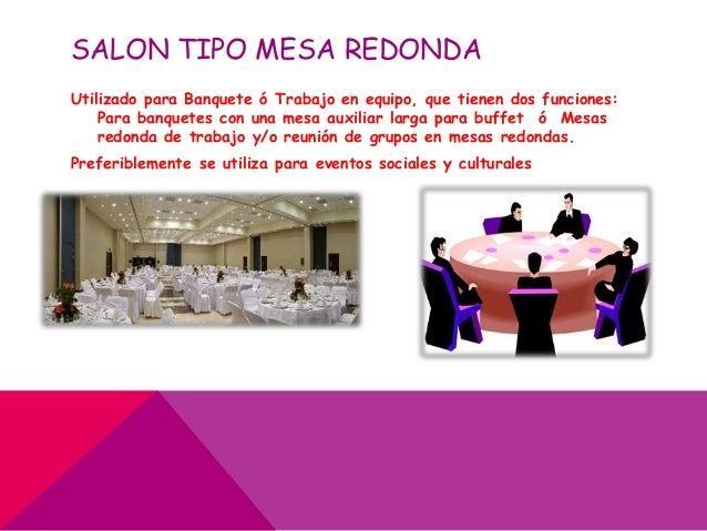 Tipo de salones para eventos - Mesas salon redondas ...