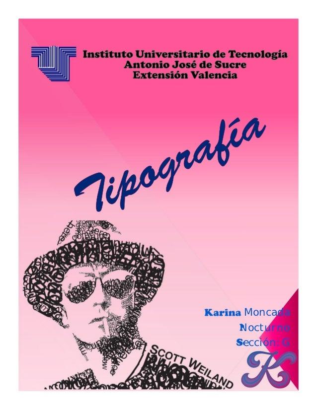 Karina Moncada      Nocturno     Sección: G