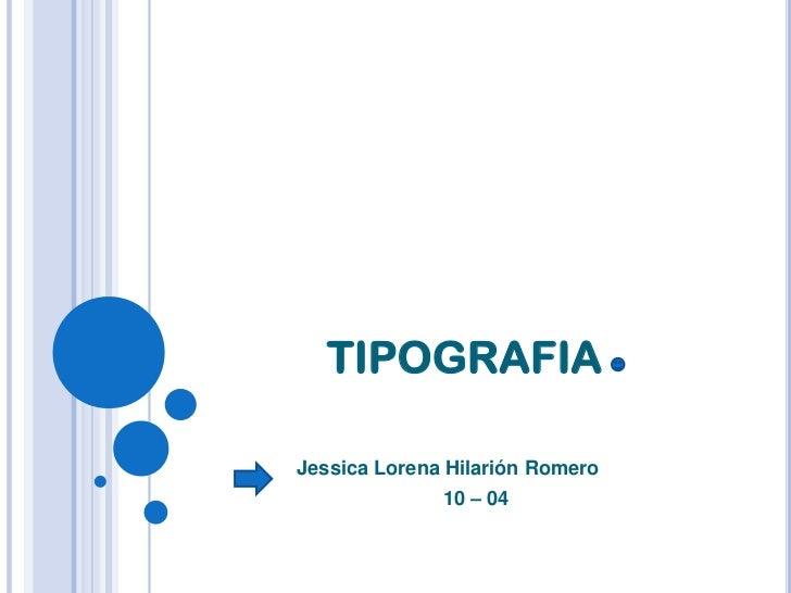 Tipografia 10 04 lorena