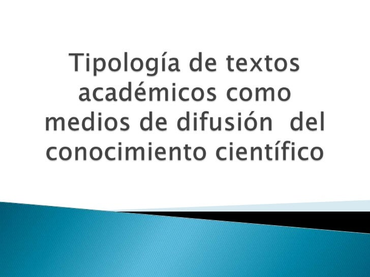 Tipología de textos
