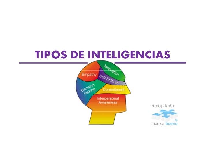TIPOS DE INTELIGENCIAS                  recopilado