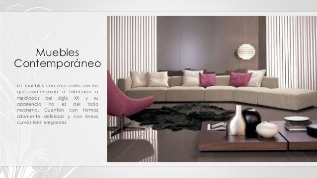 Tipos clasificaci n y estilos de muebles - Estilos de mobiliario ...