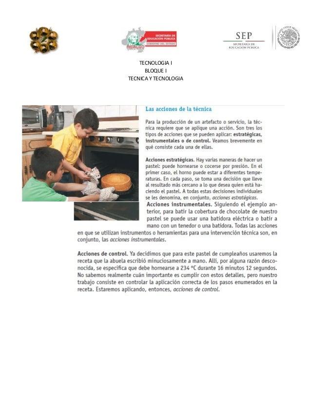 TECNOLOGIA I BLOQUE I TECNICA Y TECNOLOGIA v