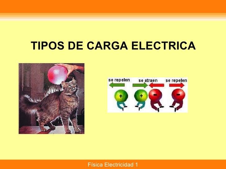 TIPOS DE CARGA ELECTRICA