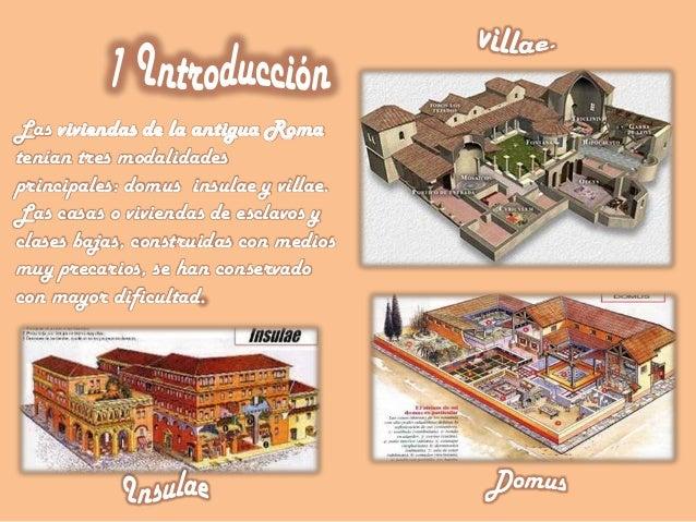 Tipos de casas en la antigua roma for Tipos de cielorrasos para casas