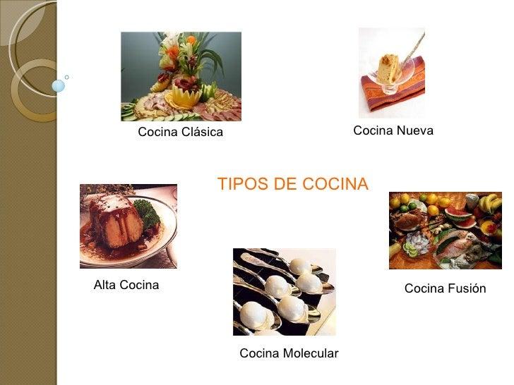 tipos de cocina