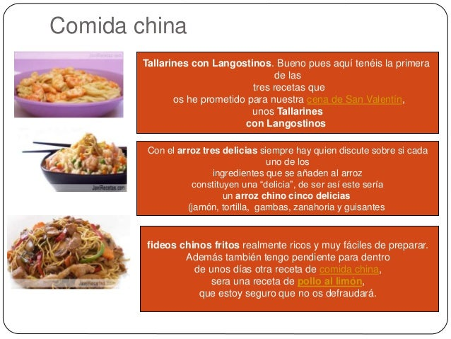Tipos De Comida Internacional