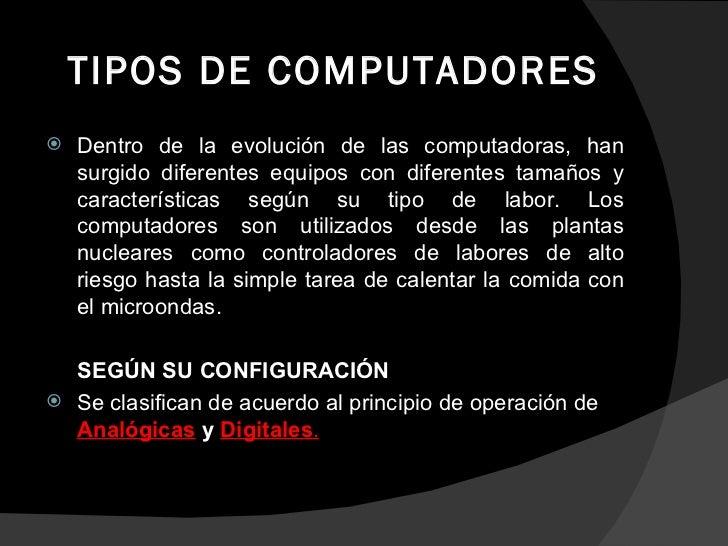 Tipos De Computadores.