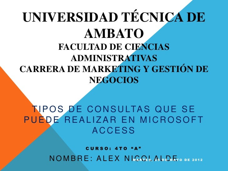 UNIVERSIDAD TÉCNICA DE       AMBATO      FACULTAD DE CIENCIAS         ADMINISTRATIVASCARRERA DE MARKETING Y GESTIÓN DE    ...