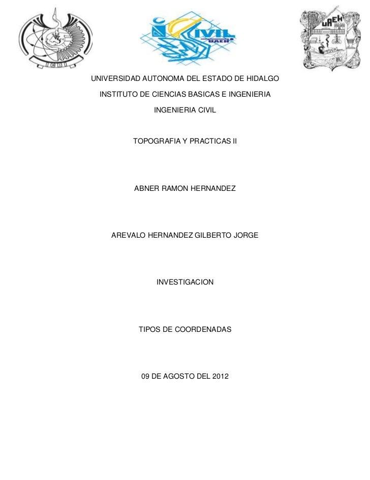 UNIVERSIDAD AUTONOMA DEL ESTADO DE HIDALGO INSTITUTO DE CIENCIAS BASICAS E INGENIERIA              INGENIERIA CIVIL       ...