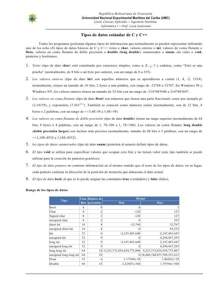 República Bolivariana de Venezuela                                       Universidad Nacional Experimental Marítima del Ca...