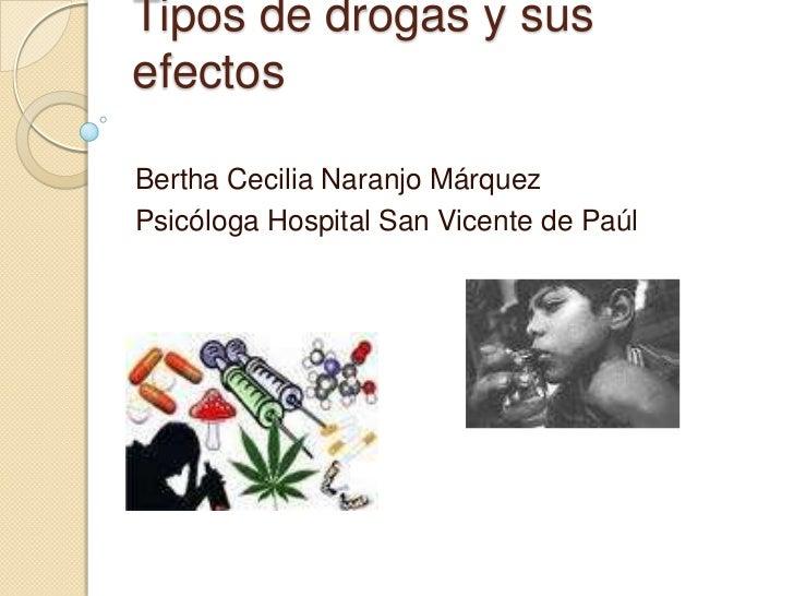 5 tipos de drogas: