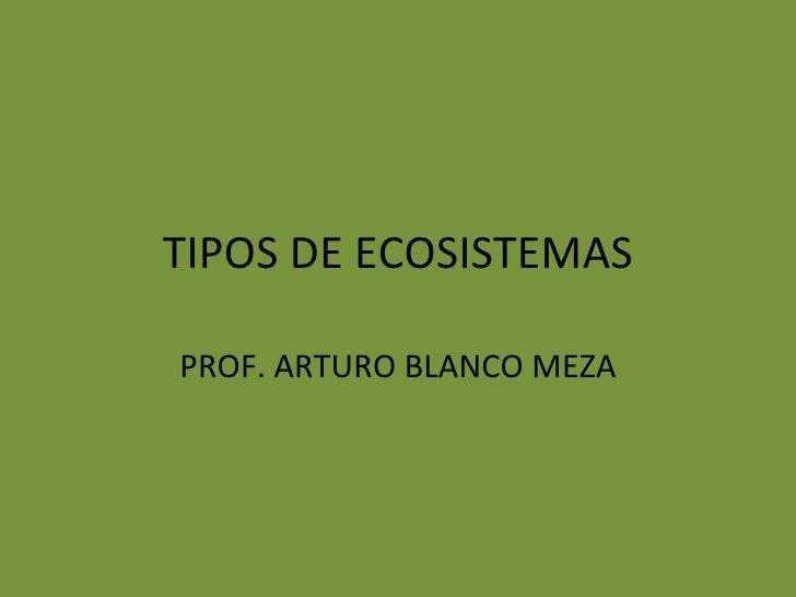 TIPOS DE ECOSISTEMASPROF. ARTURO BLANCO MEZA