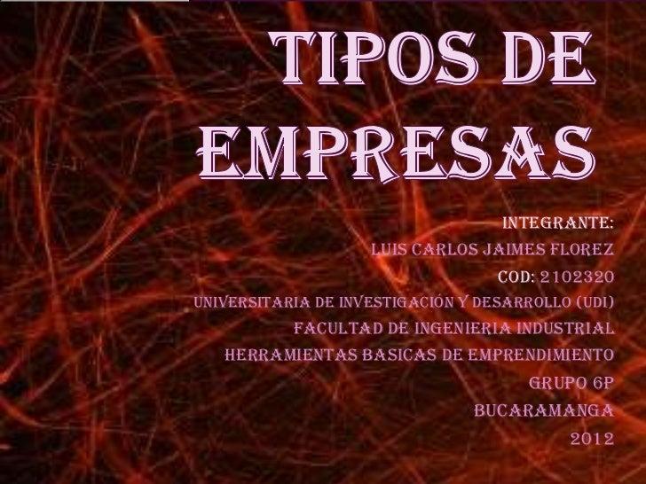 Integrante:                    luis carlos jaimes florez                                 Cod: 2102320Universitaria de inve...