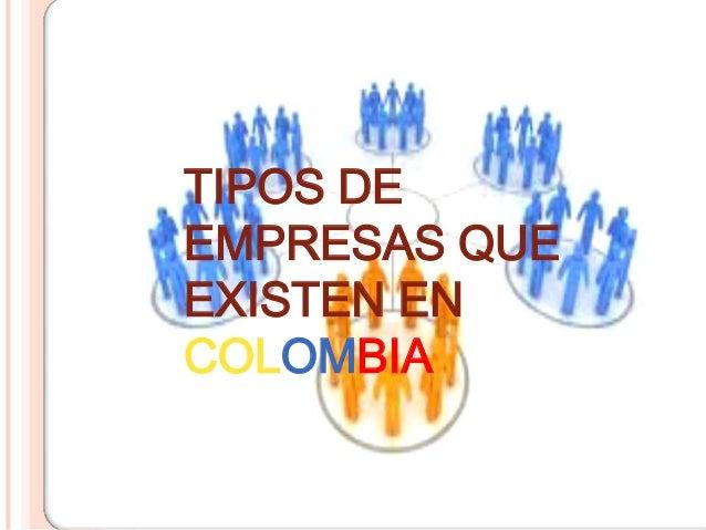 TIPOS DEEMPRESAS QUEEXISTEN ENCOLOMBIA