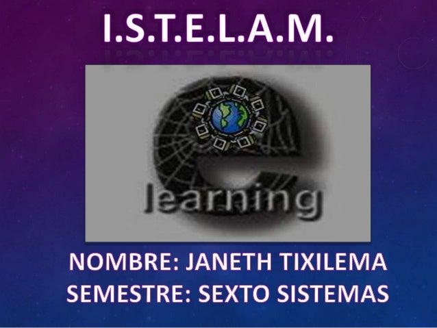 La tecnología Internet, por medio de unSoftware Administrador del Aprendizaje, nospermite acceder de forma organizada yest...