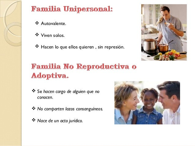 Tipos de generaciones for Tipos de familia pdf