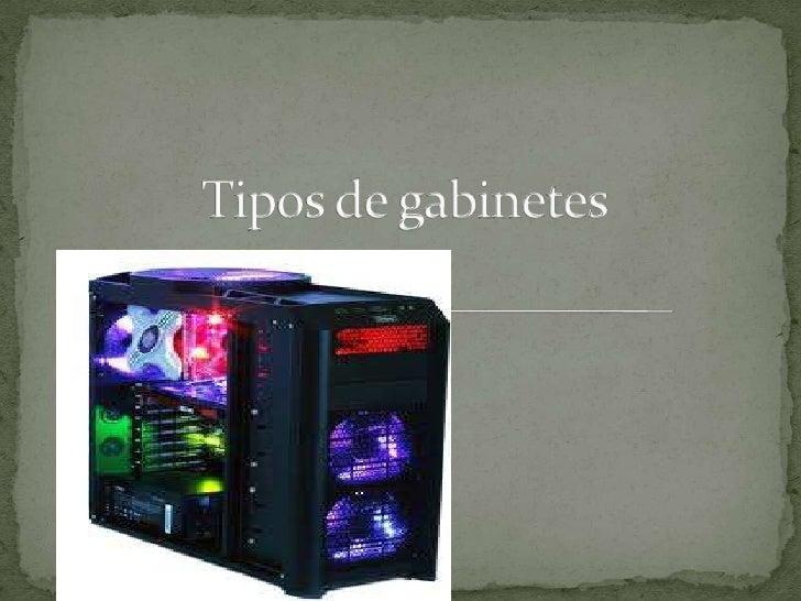  El gabinete de una PC es una pieza en cuya construcción se emplean materiales como el plástico y metales como el alumini...