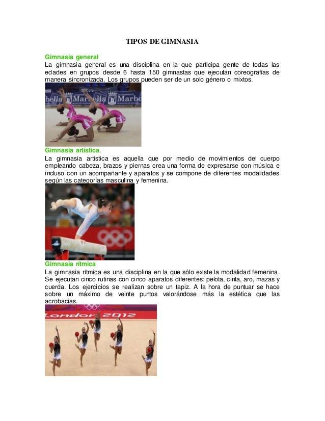 Tipos de gimnasia for Gimnasia gimnasia