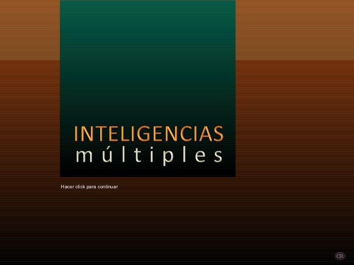Tipos de inteligencia multiples