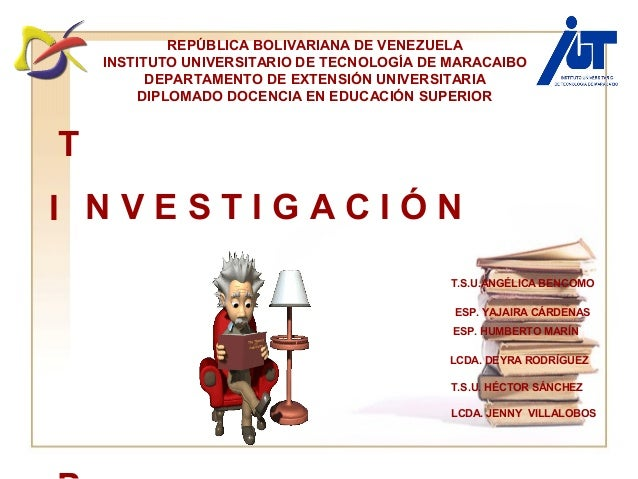 ESP. YAJAIRA CÁRDENAS T.S.U.ANGÉLICA BENCOMO ESP. HUMBERTO MARÍN LCDA. DEYRA RODRÍGUEZ T.S.U. HÉCTOR SÁNCHEZ LCDA. JENNY  ...