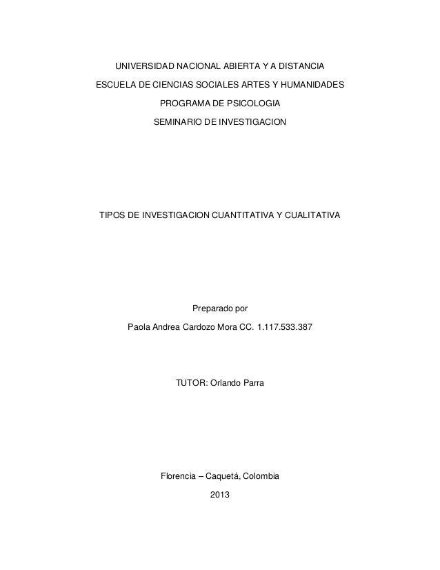 UNIVERSIDAD NACIONAL ABIERTA Y A DISTANCIAESCUELA DE CIENCIAS SOCIALES ARTES Y HUMANIDADES             PROGRAMA DE PSICOLO...