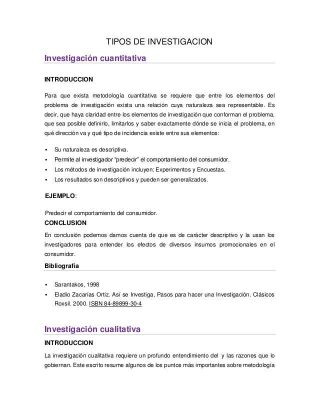 TIPOS DE INVESTIGACIONInvestigación cuantitativaINTRODUCCIONPara que exista metodología cuantitativa se requiere que entre...
